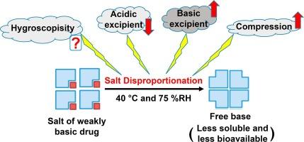 Effect of excipient properties, water activity, and water