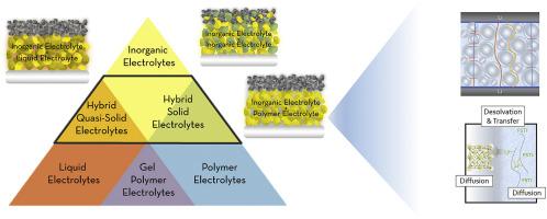Hybrid electrolytes for lithium metal batteries - ScienceDirect