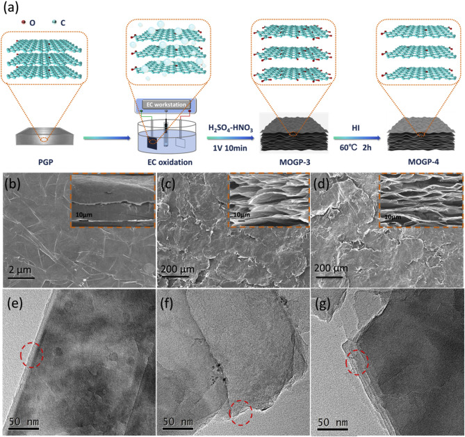 Scalable fabrication of electrochemically oxidized and