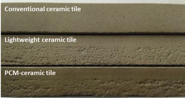 Lightweight dense/porous PCM-ceramic tiles for indoor temperature ...