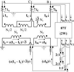 Methods for differential protection of Scott transformers