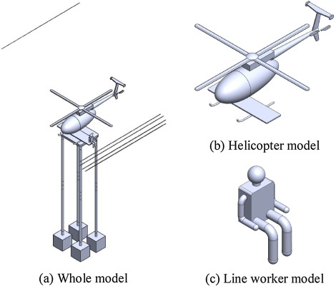 Discharge voltage prediction of complex gaps for helicopter