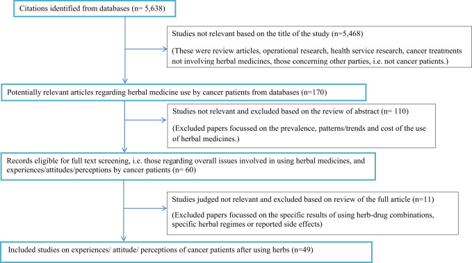 Cancer patients taking herbal medicines: A review of