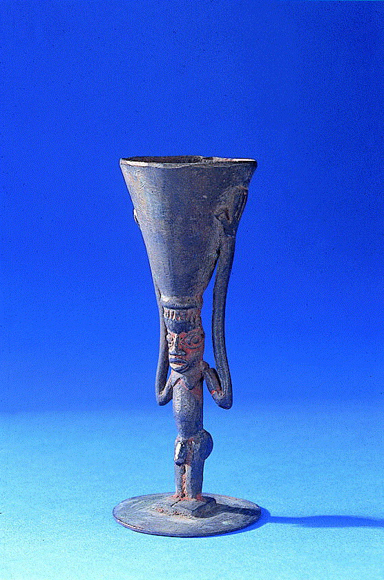 Alleged Poison Cup West Africa The Is 10 Cm High And Consists Of A Naked Male Figure Bearing Actual On His Head Courtesy Science Museum