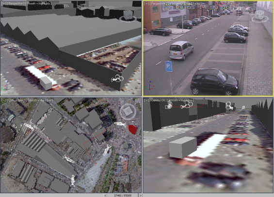 Tracking people and cars using 3D modeling and CCTV
