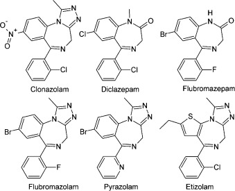 Blood concentrations of new designer benzodiazepines in