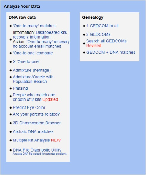 Using genetic genealogy databases in missing persons cases