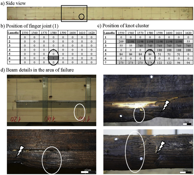 Fire tests on glued-laminated timber beams with specific