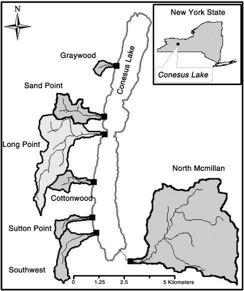 conesus lake fishing map Agricultural Best Management Practices For Conesus Lake The Role conesus lake fishing map