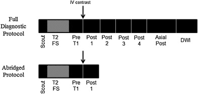 Evaluation of a known breast cancer using an abbreviated breast MRI