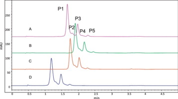 Characterization of free thiol variants of an IgG1 by reversed phase