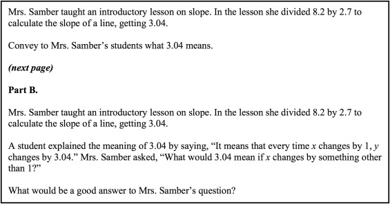 Secondary Mathematics Teachers Meanings For Measure Slope