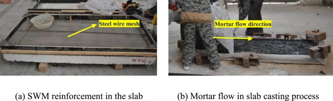 A study of concrete slabs with steel wire mesh reinforcement