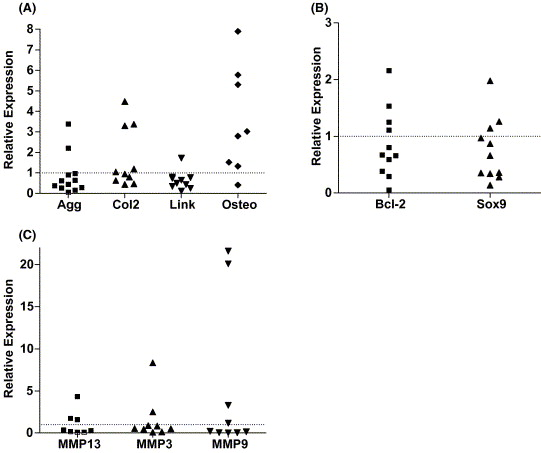 Intrajoint comparisons of gene expression patterns in human
