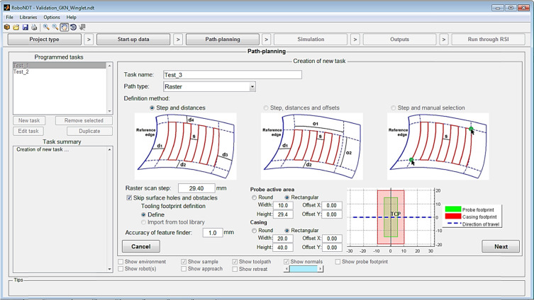Robotic path planning for non-destructive testing – A custom