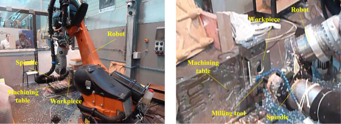 Efficiency evaluation of robots in machining applications using