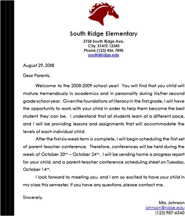 Parent letter from teacher militaryalicious parent letter from teacher altavistaventures Images