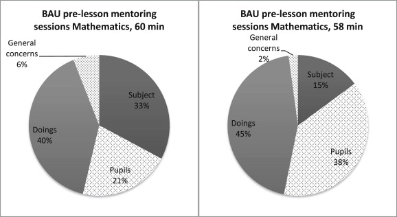 Key focus areas and use of tools in mentoring conversations