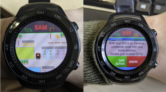 Smartwatch games: Encouraging privacy-protective behaviour