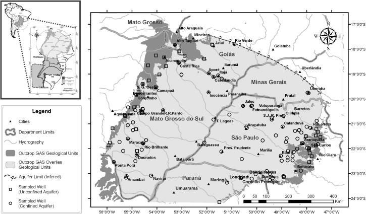 Groundwater geochemical evolution in the northern portion of the location map showing the guarani aquifer the study area and the sampled wells publicscrutiny Images