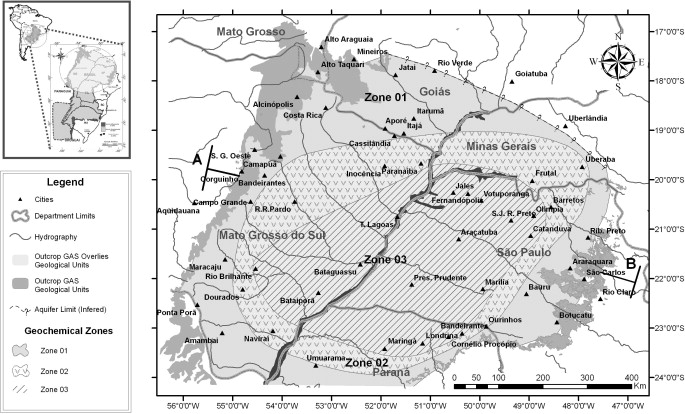 Groundwater geochemical evolution in the northern portion of the geochemical zoning of the guarani aquifer system groundwaters in its northern compartment publicscrutiny Images