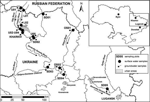 Nitrates In Springs And Rivers Of East Ukraine Distribution