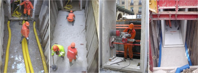 Construction process for the implementation of urban utility