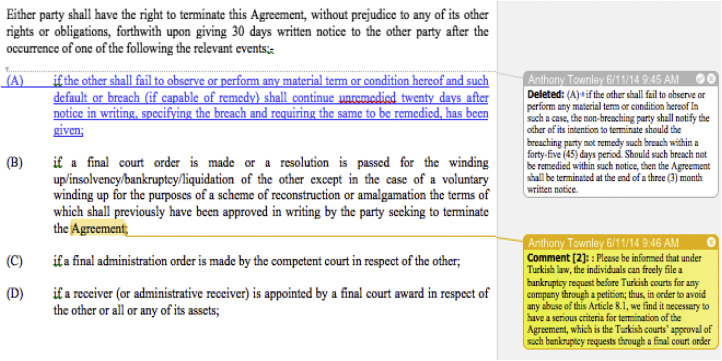 Liquidating agreement definition in grammar