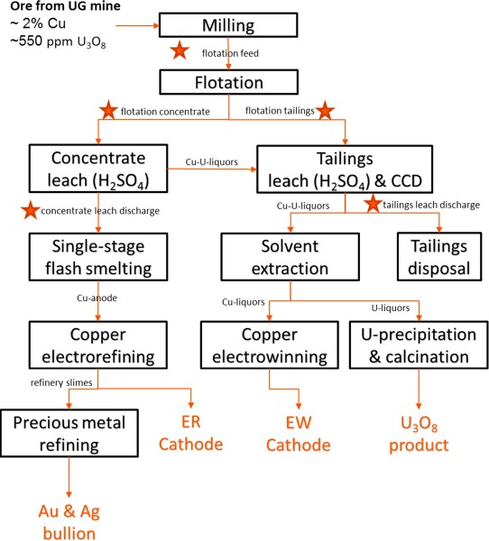 Uptake of trace elements by baryte during copper ore processing: A
