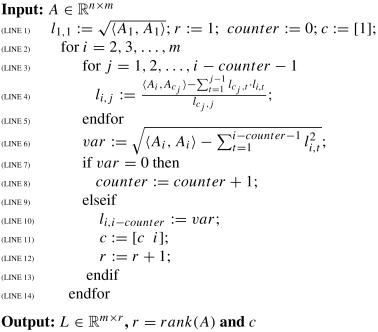 Full rank Cholesky factorization for rank deficient matrices