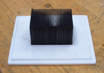 thermal performance of a carbon fiber composite material heat sink