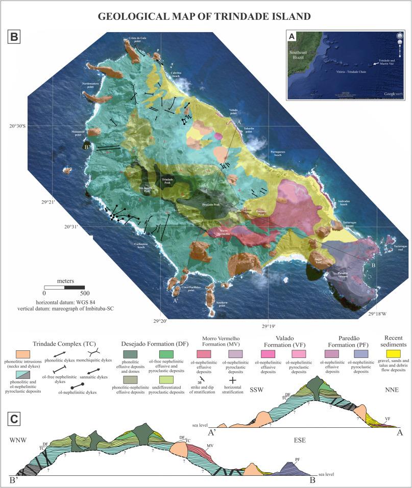 The nepheliniticphonolitic volcanism of the Trindade Island South