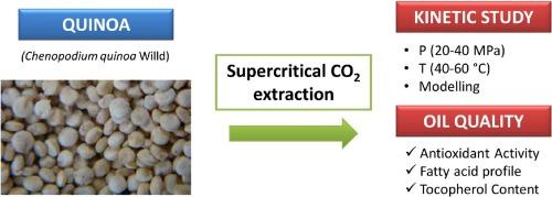 Supercritical carbon dioxide extraction of quinoa oil: Study
