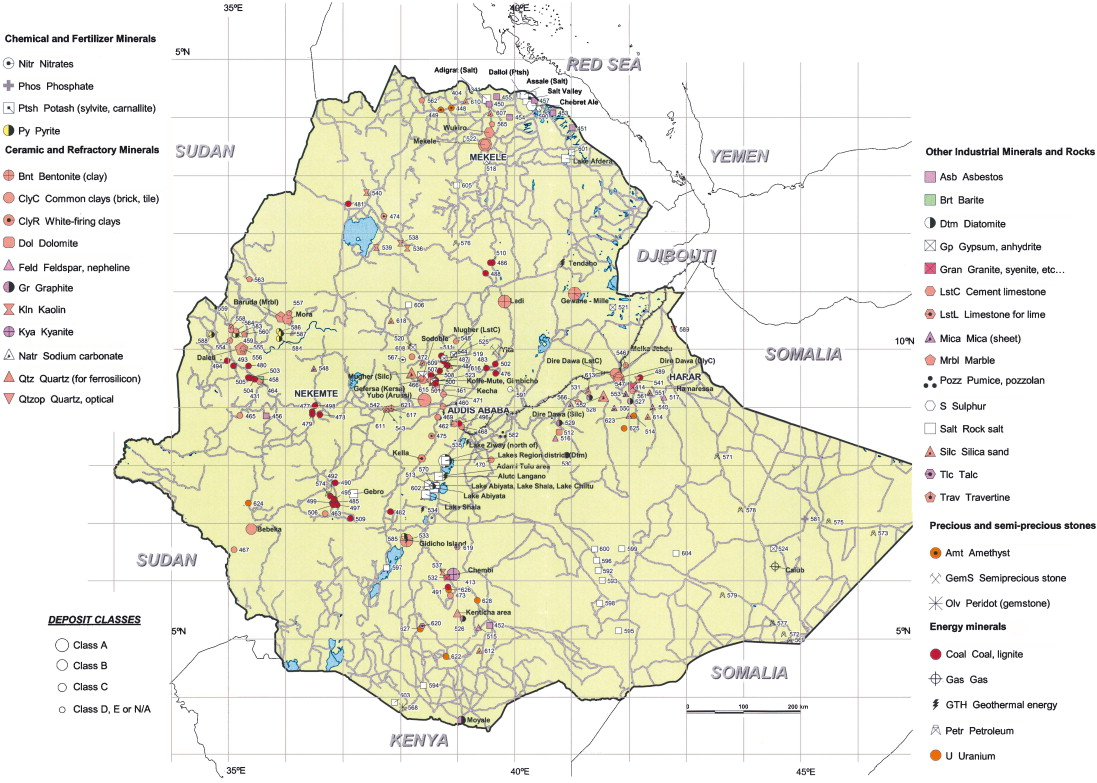 Geology and mineral potential of Ethiopia: a note on geology