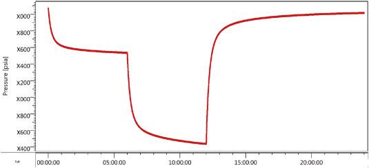 Pressure transient measurement statistics and gauge