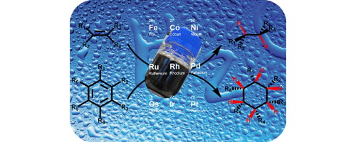 Aqueous-phase hydrogenation of alkenes and arenes: The