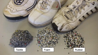 Sports Shoes Separation Into Foam Textile And Rubber At 3 4 Mm Average Particle Size