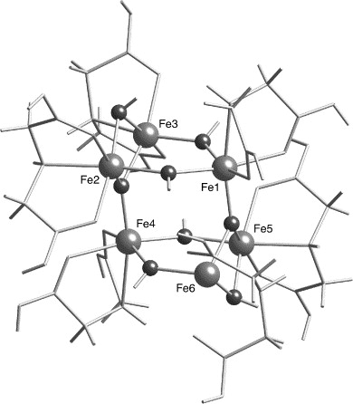 Exchange Coupling Interactions In A Fe6 Complex A Theoretical Study