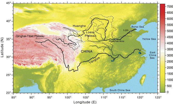 Interannual and seasonal variation of the Huanghe Yellow River