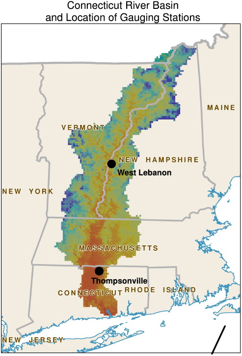 Hydrological Changes In The US Northeast Using The Connecticut - Connecticut river on us map