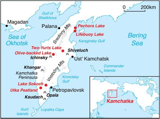 Kamchatka Peninsula On World Map.Holocene Environmental Change In Kamchatka A Synopsis Sciencedirect