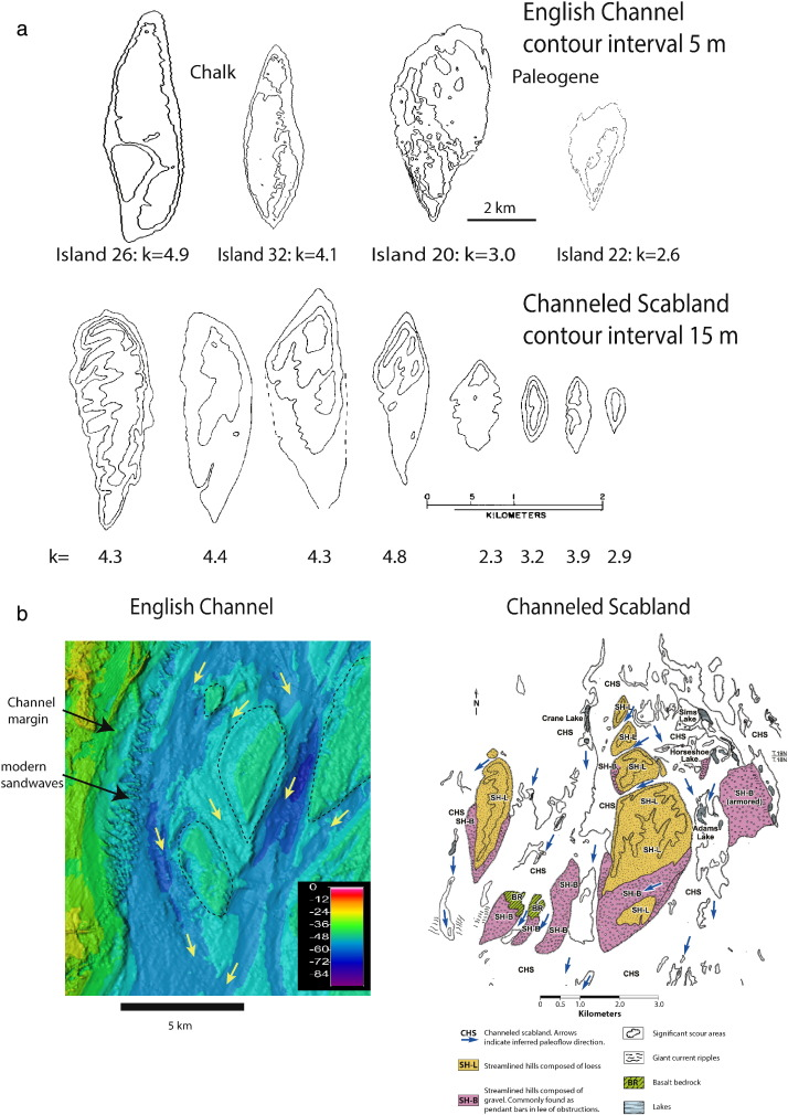 Streamlined islands and the english channel megaflood hypothesis comparison of the streamlined islands formed in the english channel to those of the channeled scabland a comparison of the planform shapes of individual ccuart Images