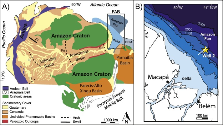 The Amazon At Sea Onset And Stages Of The Amazon River From A - Amazon river location