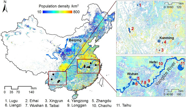 Ecological shift and resilience in China's lake systems during the