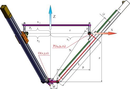 Design of a 3-DOF tripod electro-pneumatic parallel