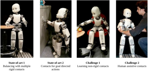 Whole-body multi-contact motion in humans and humanoids