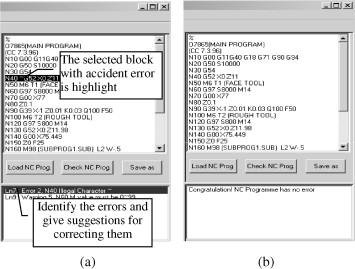 An NC tool path translator for virtual machining of