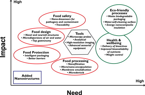 impacts and needs of nanotechnological applications in foods and food processing