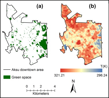Effects Of Green Space Spatial Pattern On Land Surface Temperature Unique Spatial Pattern
