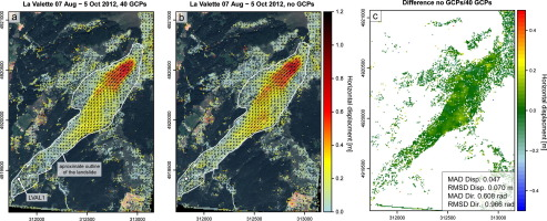 Surface reconstruction and landslide displacement